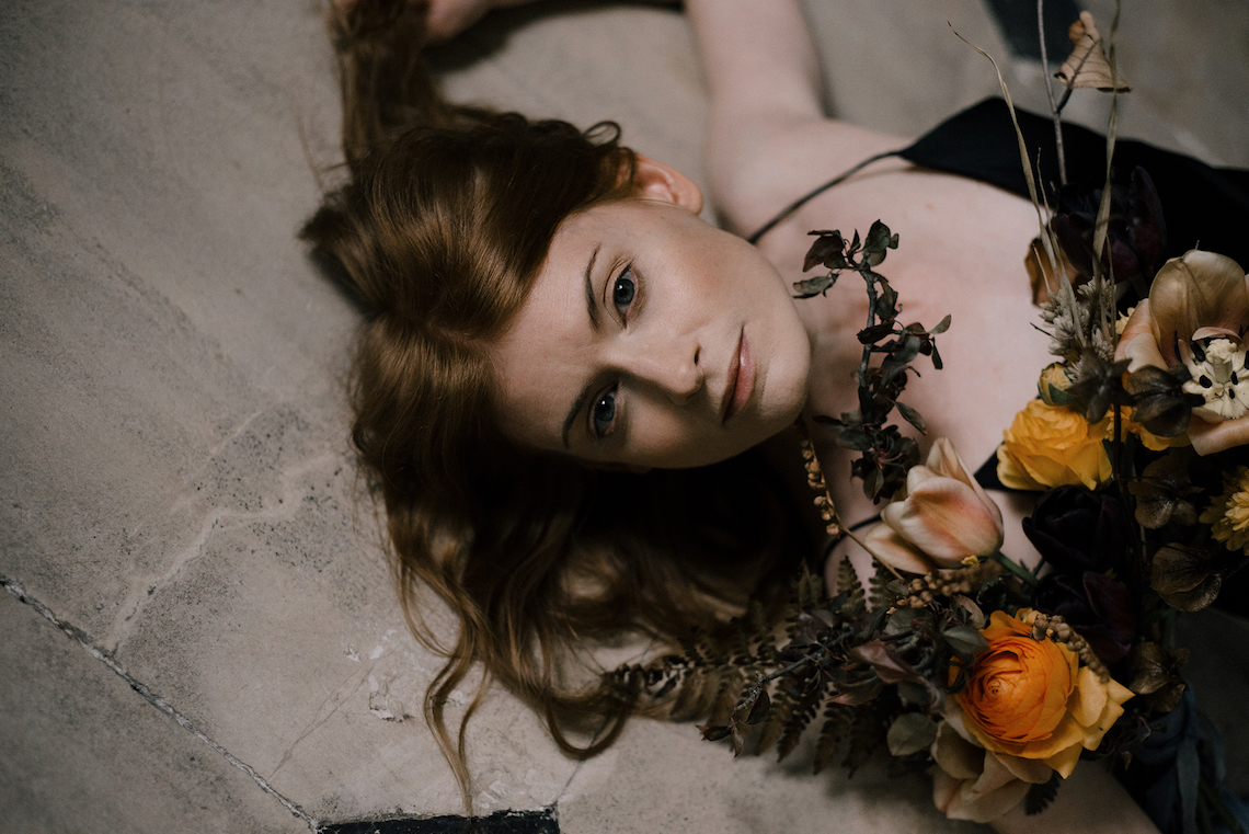 Dramatic Bridesmaid Inspiration With Fall Florals and A Black Jumpsuit – Georgina Harrison Photography 5