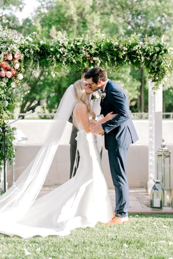 Glamorous Emerald Sapphire and Peach Countryside Wedding – Melanie Julian 18