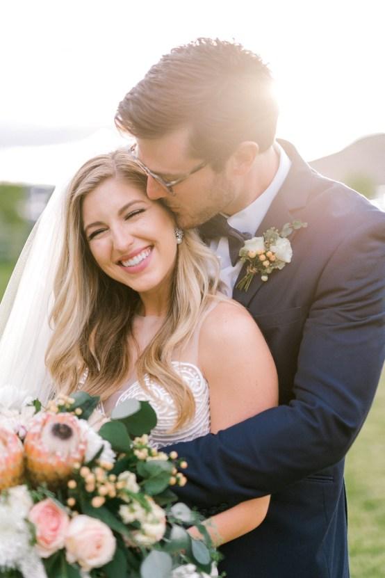 Glamorous Emerald Sapphire and Peach Countryside Wedding – Melanie Julian 34