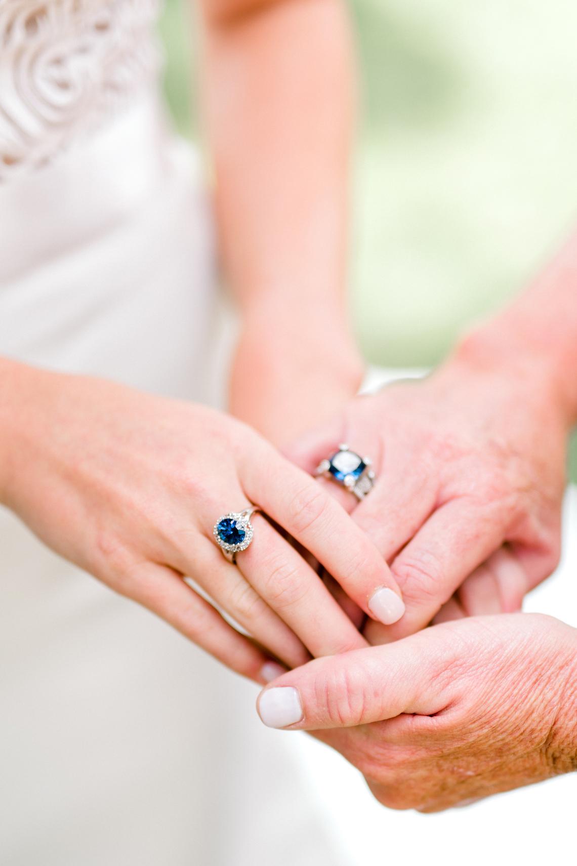 Glamorous Emerald Sapphire and Peach Countryside Wedding – Melanie Julian 36