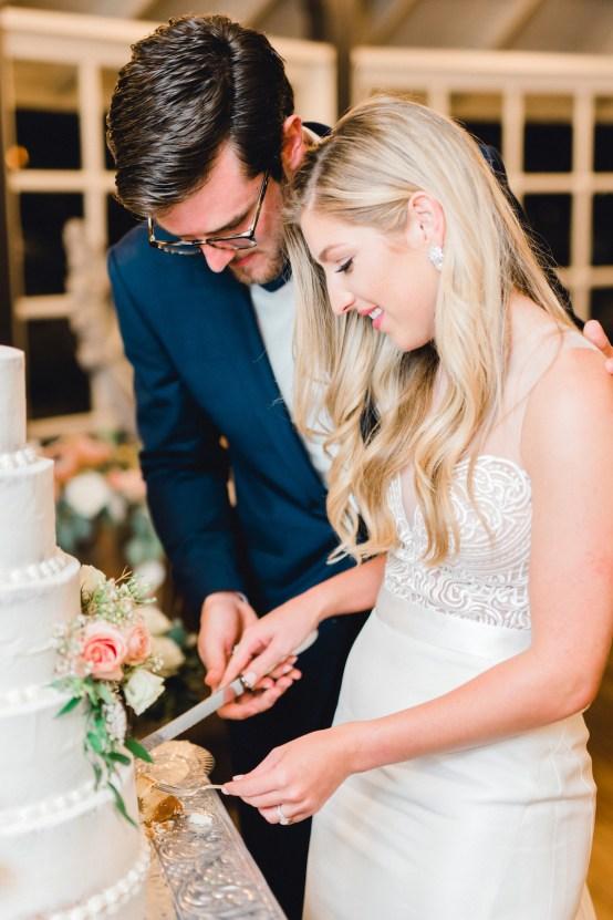 Glamorous Emerald Sapphire and Peach Countryside Wedding – Melanie Julian 39