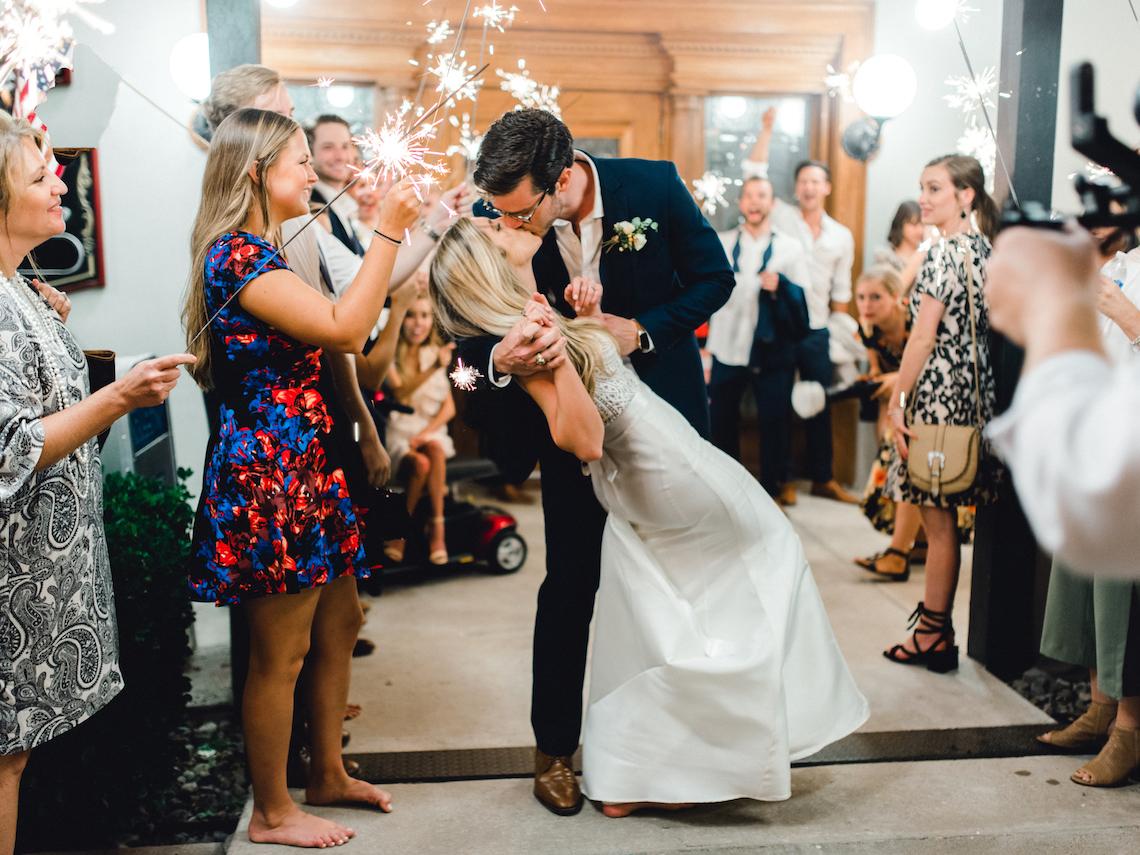 Glamorous Emerald Sapphire and Peach Countryside Wedding – Melanie Julian 5
