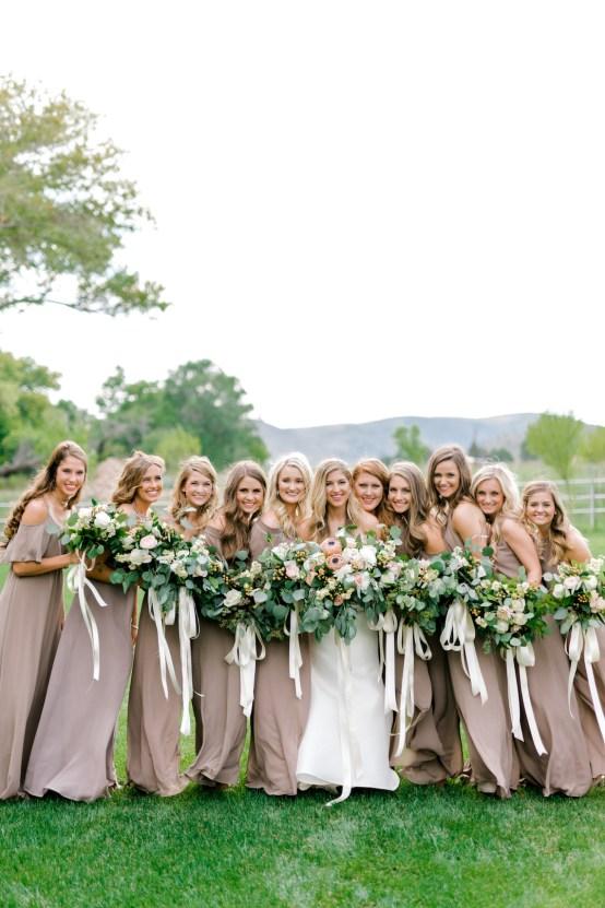 Glamorous Emerald Sapphire and Peach Countryside Wedding – Melanie Julian 54