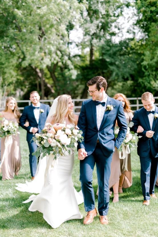 Glamorous Emerald Sapphire and Peach Countryside Wedding – Melanie Julian 58