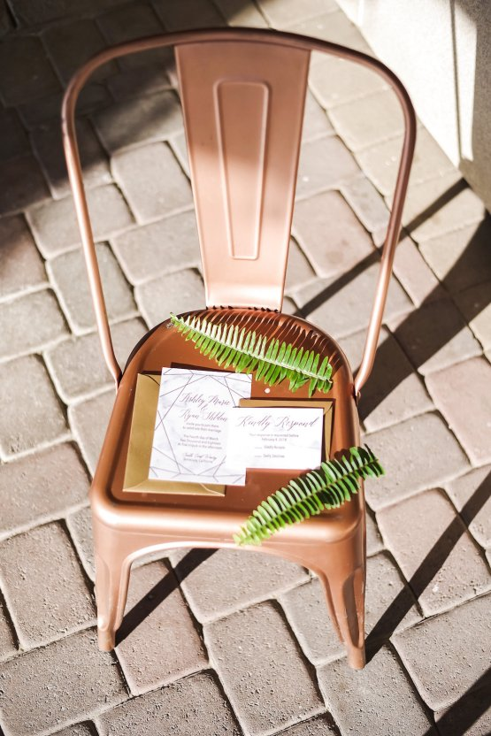 Metallic Copper Wedding Inspiration With A Creative Hexagon Altar – Allie Marion 37