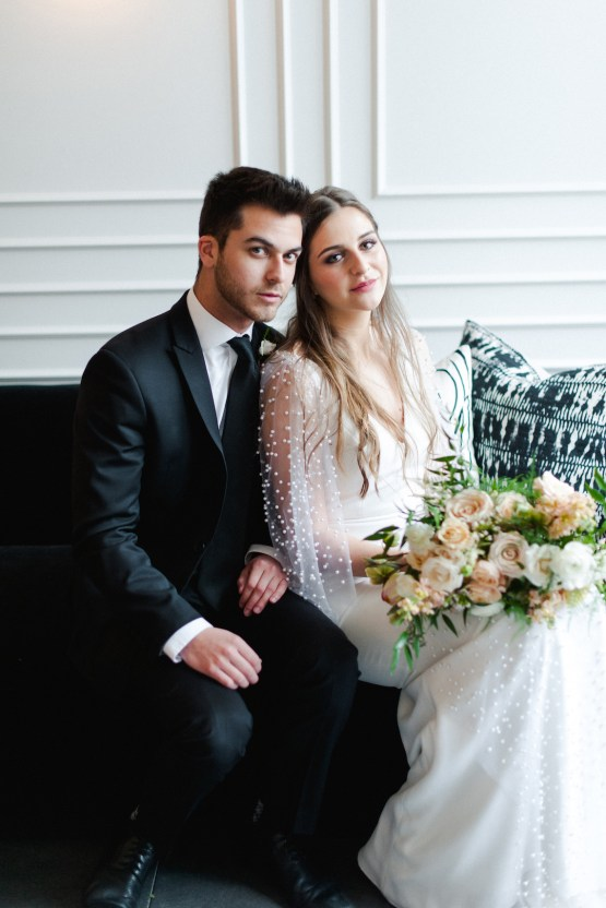 Modern Marble Wedding Inspiration With A Pearl Bridal Cape – Roots of Life Photography 45