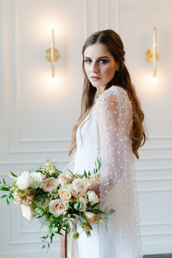 Modern Marble Wedding Inspiration With A Pearl Bridal Cape – Roots of Life Photography 49