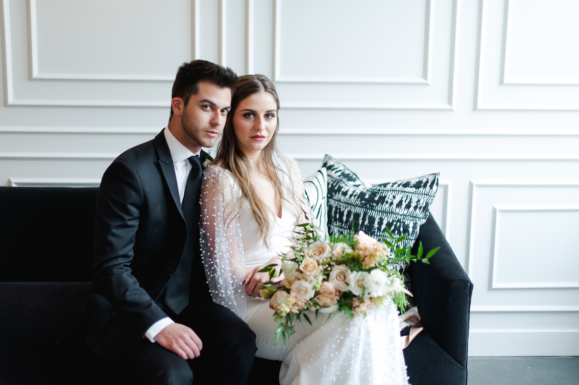Modern Marble Wedding Inspiration With A Pearl Bridal Cape – Roots of Life Photography 8