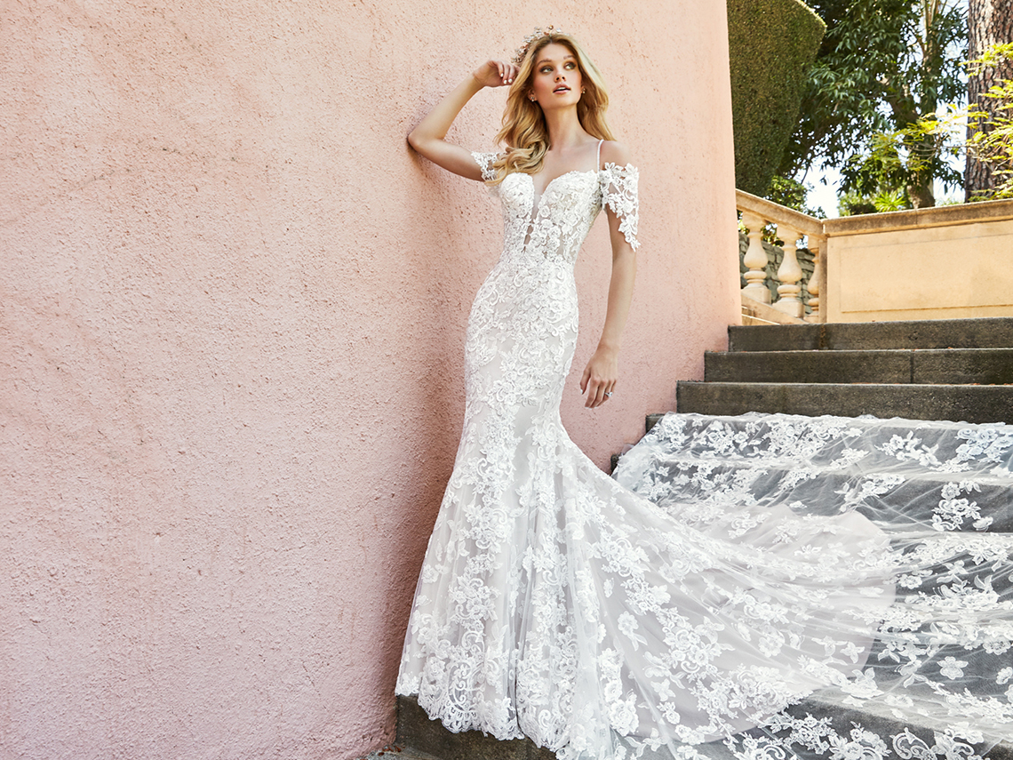 10 Stunning Wedding Dresses By Destination – Val Stefani Edita Dress 5