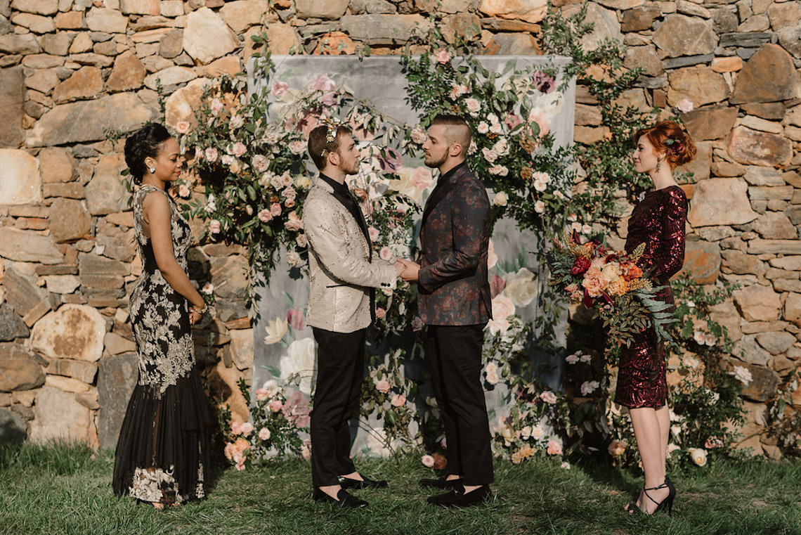 Luxe Mansion Wedding Inspiration Featuring Masculine Florals and Deep Tones – Alex Tenser – Swoon Soiree 3