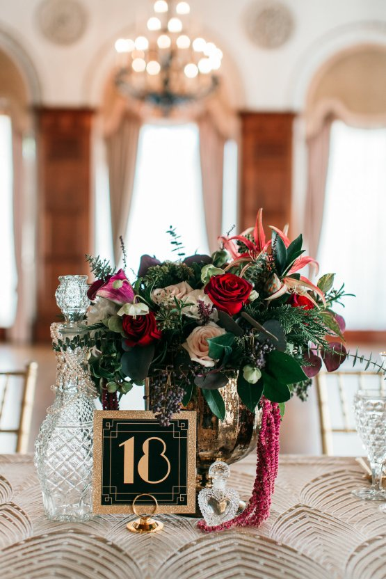 The Great Gatsby Art Deco Wedding Inspiration With Tropical Florals – Holly Castillo Photography 13