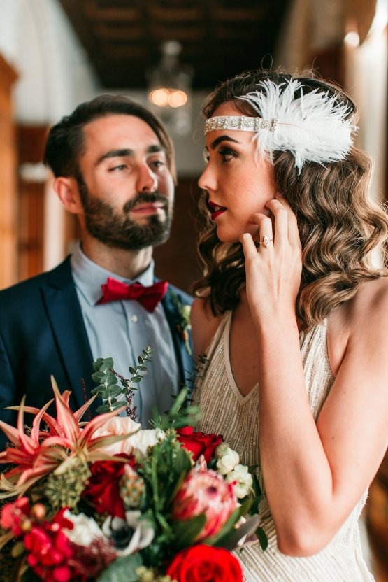 The Great Gatsby Art Deco Wedding Inspiration With Tropical Florals – Holly Castillo Photography 28