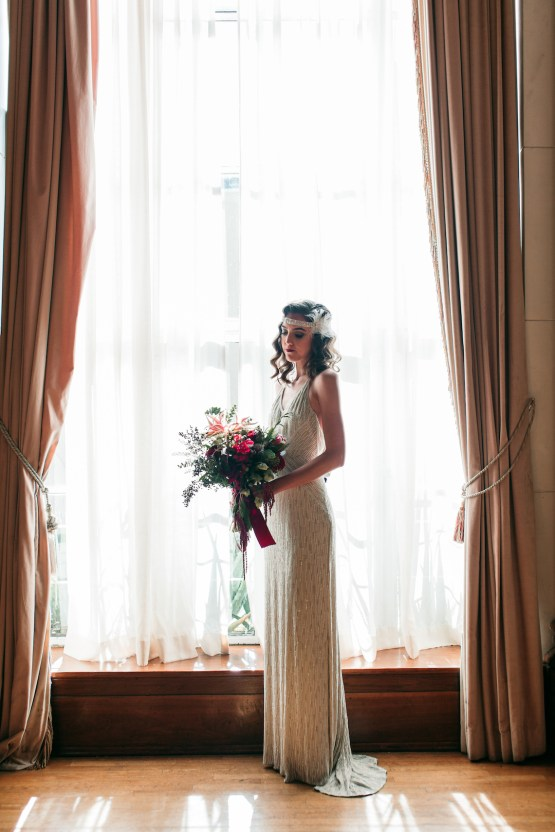 The Great Gatsby Art Deco Wedding Inspiration With Tropical Florals – Holly Castillo Photography 29