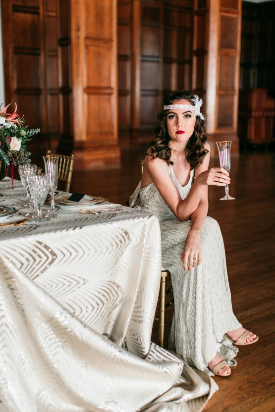 The Great Gatsby Art Deco Wedding Inspiration With Tropical Florals – Holly Castillo Photography 33