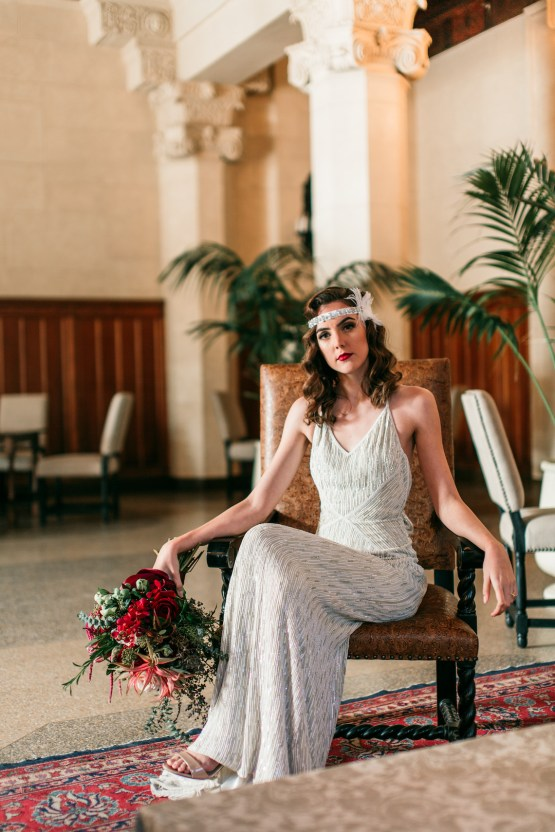 The Great Gatsby Art Deco Wedding Inspiration With Tropical Florals – Holly Castillo Photography 36