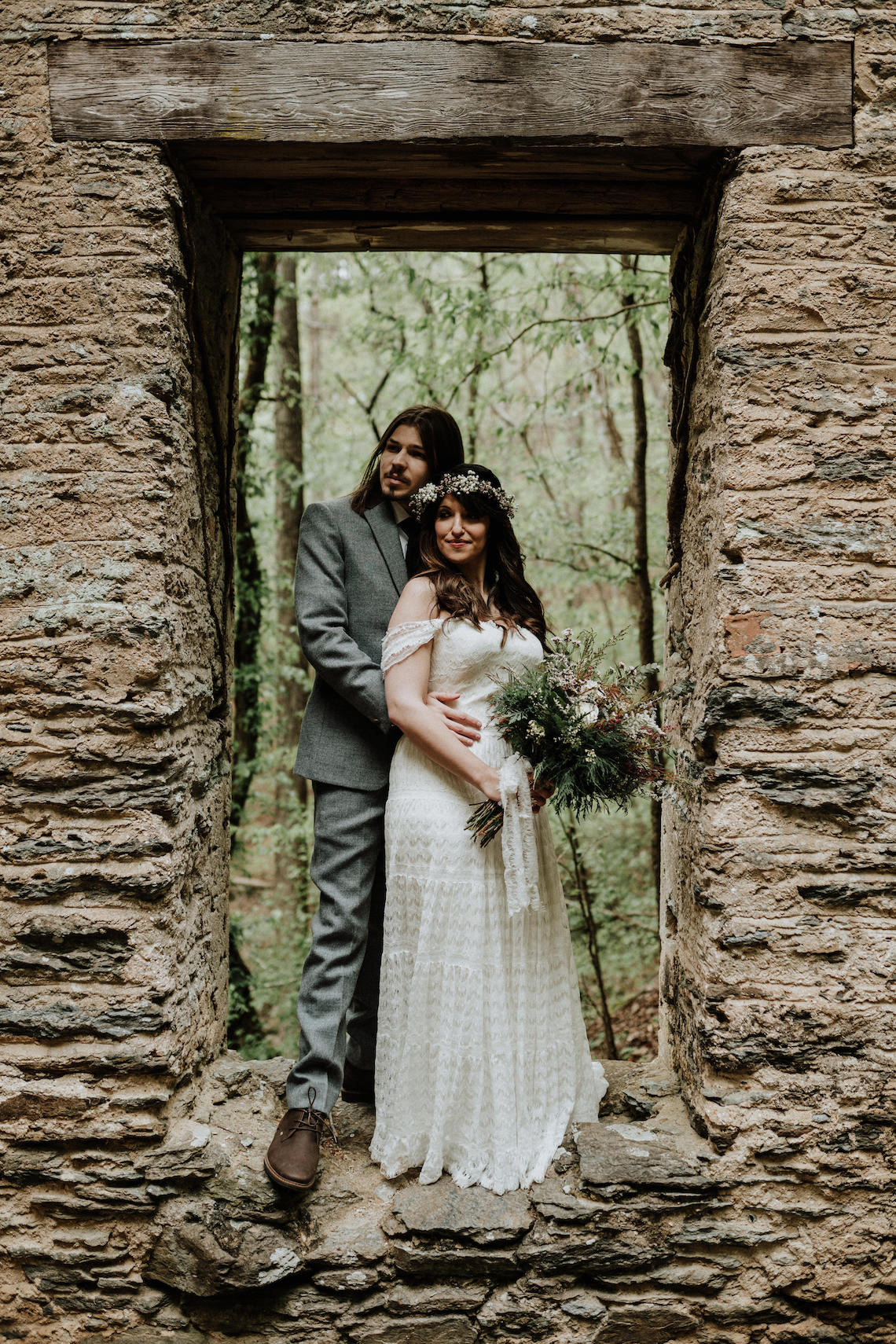 Woodland Waterfall Fairy-Tale Wedding – T and K Photography 37