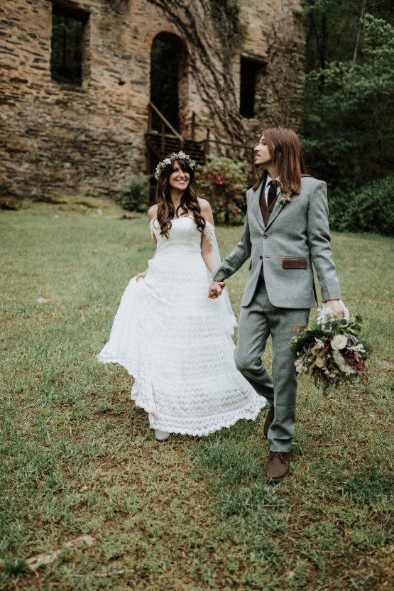 Woodland Waterfall Fairy-Tale Wedding – T and K Photography 46
