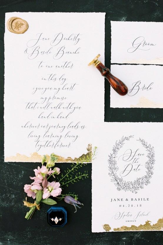 Lavish and Ethereal Greek Hotel Wedding Inspiration – Camilla Cosme Photography 11