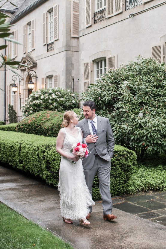 Upscale Art Deco Rhode Island Wedding With A Feathered Dress – Lynne Reznick Photography 16