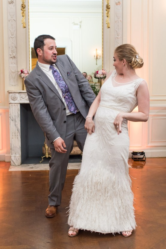 Upscale Art Deco Rhode Island Wedding With A Feathered Dress – Lynne Reznick Photography 28