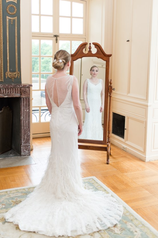 Upscale Art Deco Rhode Island Wedding With A Feathered Dress – Lynne Reznick Photography 4