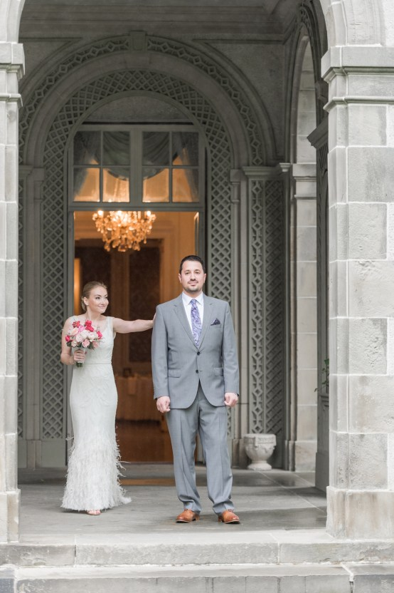 Upscale Art Deco Rhode Island Wedding With A Feathered Dress – Lynne Reznick Photography 5