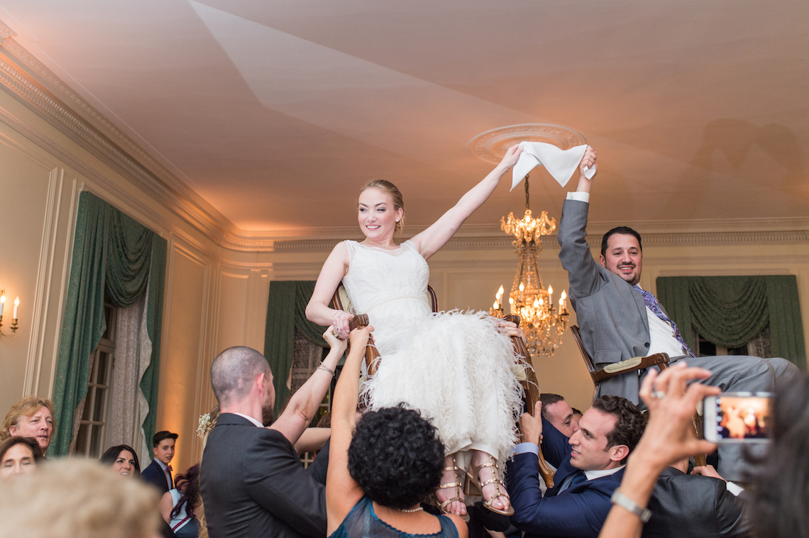 Upscale Art Deco Rhode Island Wedding With A Feathered Dress – Lynne Reznick Photography 67