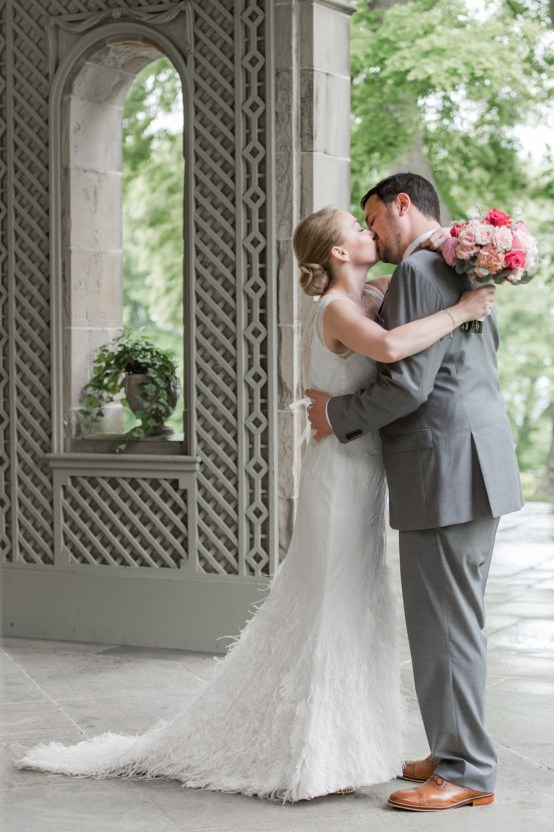 Upscale Art Deco Rhode Island Wedding With A Feathered Dress – Lynne Reznick Photography 7