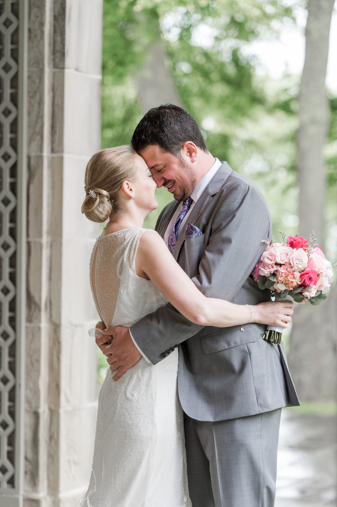 Upscale Art Deco Rhode Island Wedding With A Feathered Dress – Lynne Reznick Photography 8