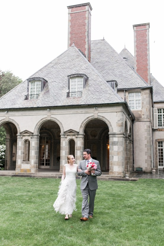 Upscale Art Deco Rhode Island Wedding With A Feathered Dress – Lynne Reznick Photography 9