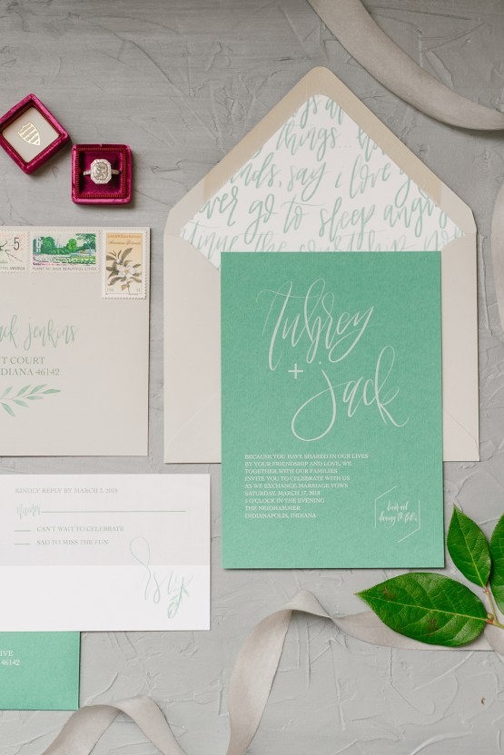 Whimsical Crimson and Green Holiday Wedding Inspiration – Stacy Able Photography 6