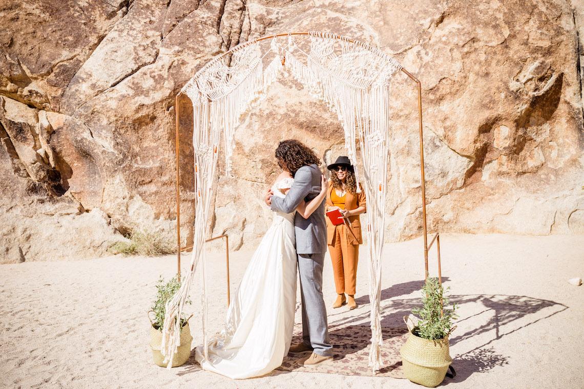 Amazing Vintage Joshua Tree Camping Wedding – Someplace Images 10