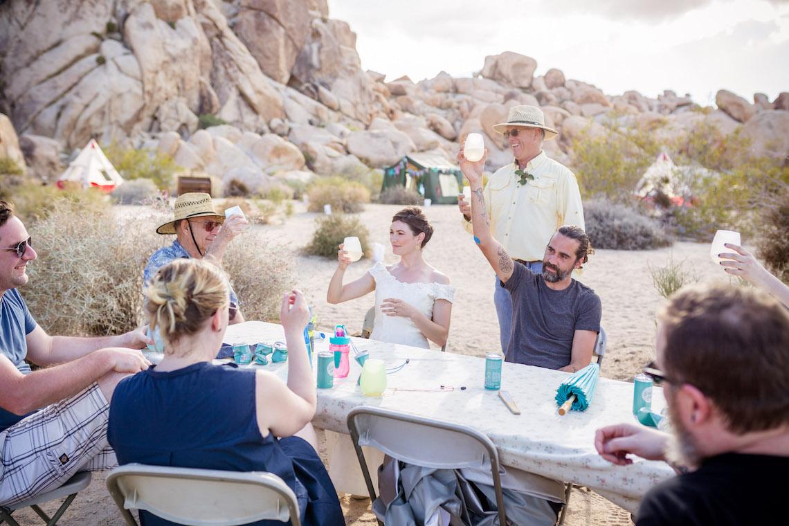 Amazing Vintage Joshua Tree Camping Wedding – Someplace Images 11