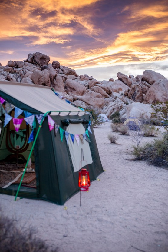 Amazing Vintage Joshua Tree Camping Wedding – Someplace Images 18