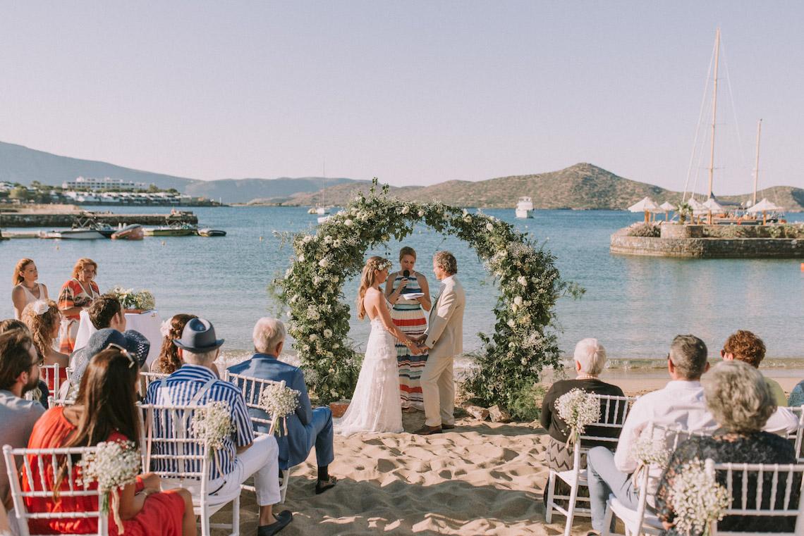 Boho Greek Island Wedding Featuring A Circle Floral Arch – Paulina Weddings 36