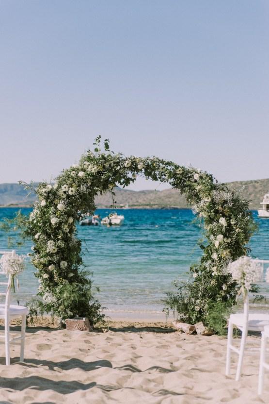 Boho Greek Island Wedding Featuring A Circle Floral Arch – Paulina Weddings 7