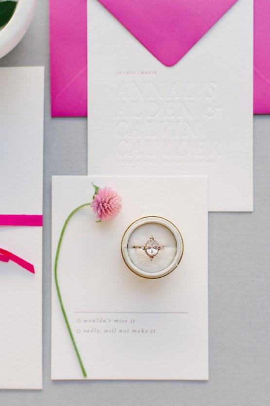 Elegant Fuchsia Wedding Inspiration in Charleston – Carrie Joy Photography – Detailed I Dos 4
