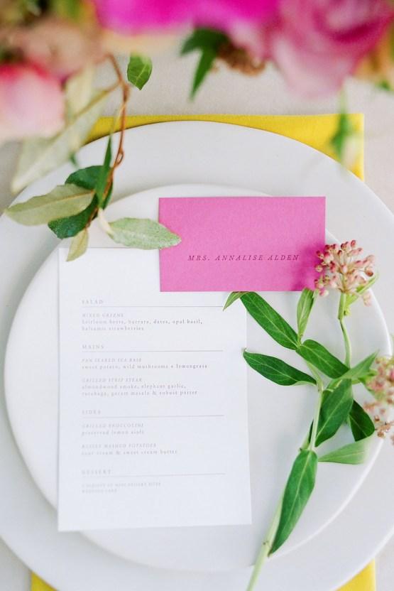 Elegant Fuchsia Wedding Inspiration in Charleston – Carrie Joy Photography – Detailed I Dos 51