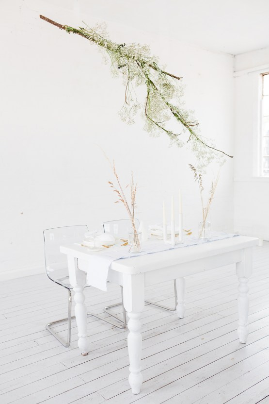 Funky & Creative All White Wedding Inspiration – The Vintage House That Could 18