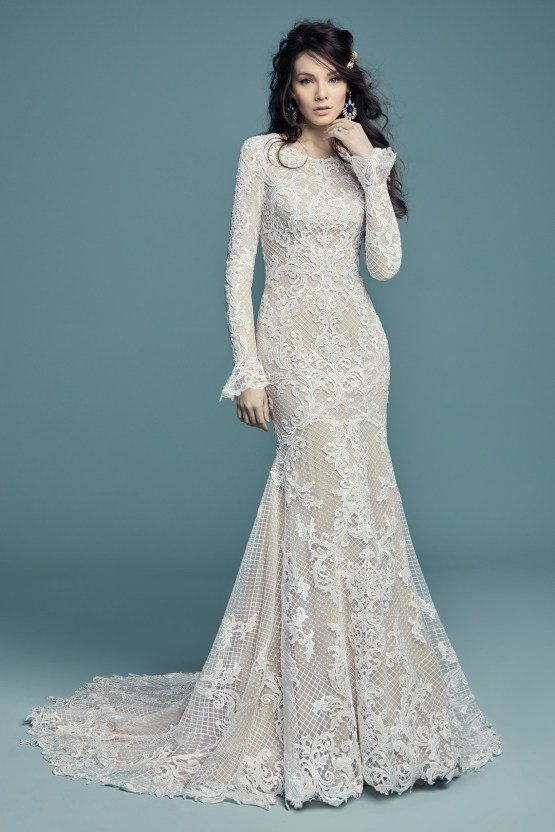Dream Maggie Sottero Long Sleeve Wedding Dresses – Maggie Sottero Hailey Lynette 2
