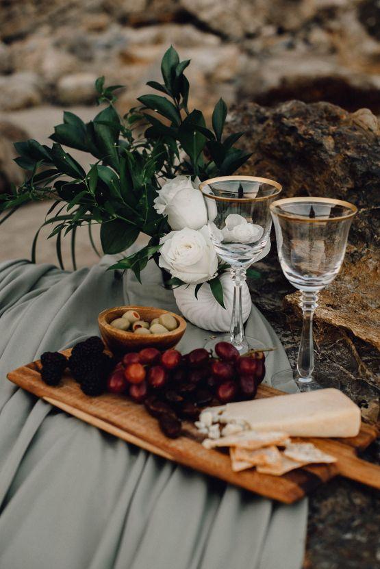 Romantic Same Sex Beach Elopement Inspiration in Earth Tones – Kalon Weddings Photography – Chloe Nicole Weddings 18