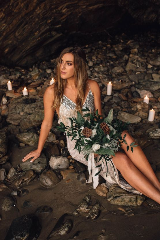 Romantic Same Sex Beach Elopement Inspiration in Earth Tones – Kalon Weddings Photography – Chloe Nicole Weddings 38