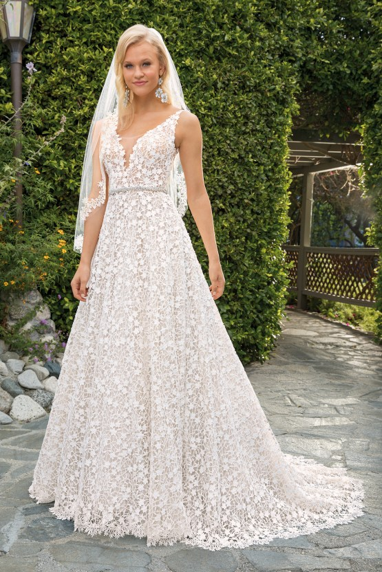 6 Stunning Lace Wedding Dresses By Casablanca Bridal – 2354 Liliana-FRONT