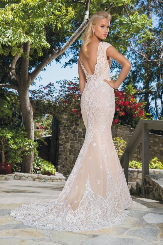 6 Stunning Lace Wedding Dresses By Casablanca Bridal – 2357 Aubrey-BACK
