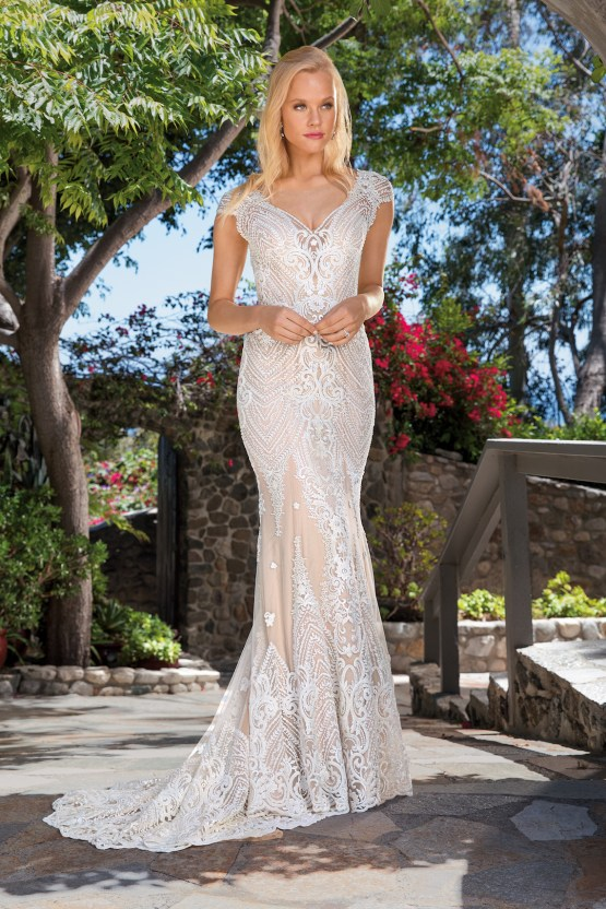 6 Stunning Lace Wedding Dresses By Casablanca Bridal – 2357 Aubrey-FRONT