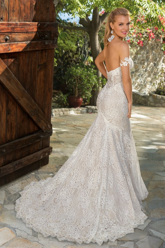 6 Stunning Lace Wedding Dresses By Casablanca Bridal – 2365 Ella-BACK