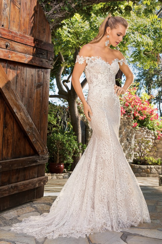 6 Stunning Lace Wedding Dresses By Casablanca Bridal – 2365 Ella-FRONT