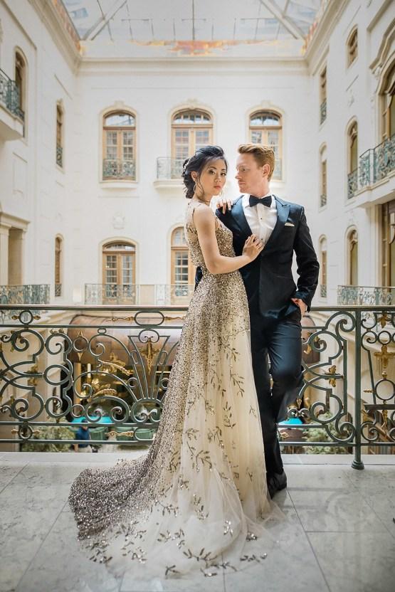 A Dramatic Gold Wedding Dress for the Goddess Bride – Vivid Symphony 24