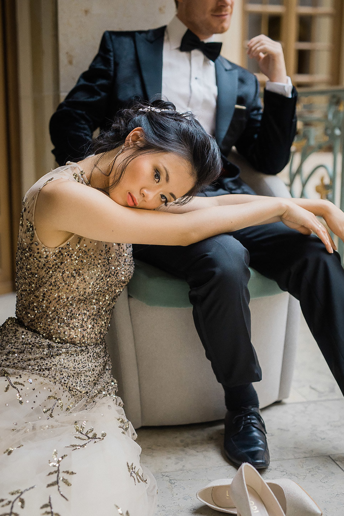A Dramatic Gold Wedding Dress for the Goddess Bride – Vivid Symphony 26