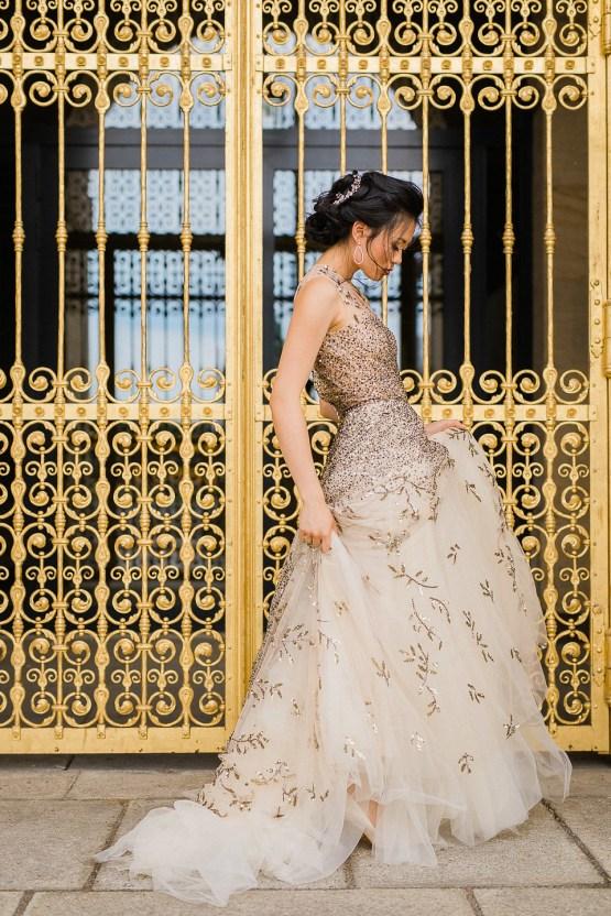 A Dramatic Gold Wedding Dress for the Goddess Bride – Vivid Symphony 27